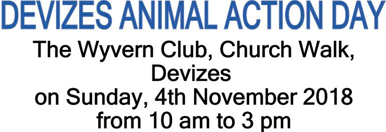 Devizes Community Animal Action Event on 4th November 2018
