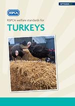RSPCA welfare standards for turkeys cover © RSPCA Farm Animals Department