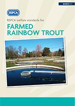 Farmed rainbow trout welfare standards front cover © RSPCA