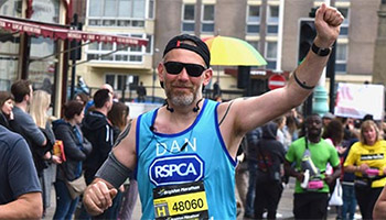 Brighton marathon runner for the RSPCA © RSPCA