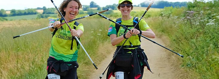 Participants taking part in the Cotswold Way Challenge