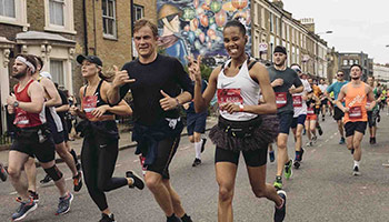 Runners taking part in the Hackney Half marathon