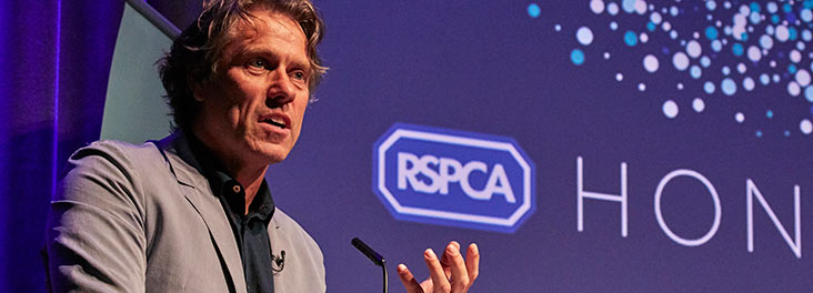 John Bishop presenting at the 2019 RSPCA Honours © RSPCA