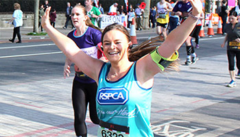 RSPCA supporter running the London Landmarks Half Marathon for the RSPCA