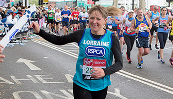 London Marathon runner for the RSPCA © RSPCA