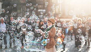 Mass bubble release © StockSnap