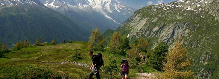 Mont Blanc hikers