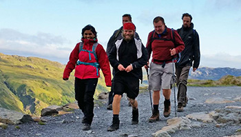 Hikers taking part in the National Three Peaks challenge