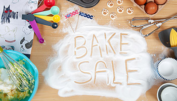 Bake sale written in sugar © RSPCA