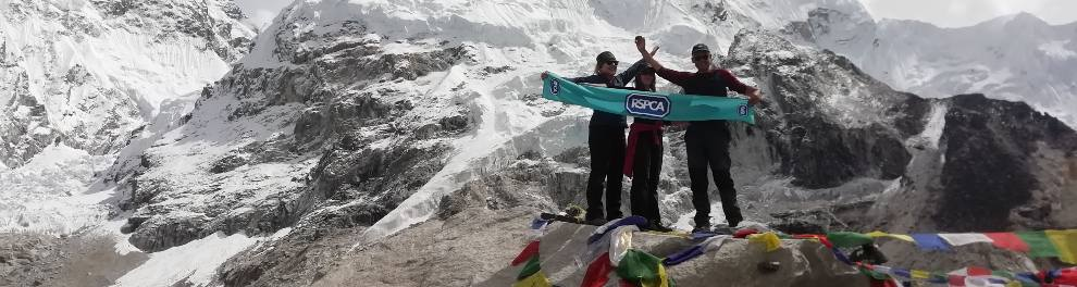RSPCA supporters at Everest base camp