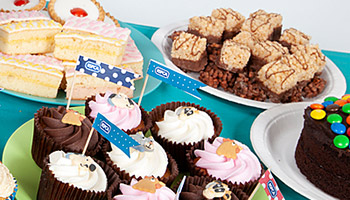 Selection of cakes and cupcakes © RSPCA