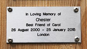 Memorial plaque © RSPCA