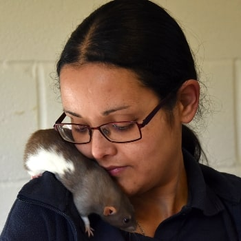 Pet rat owner Erin © RSPCA