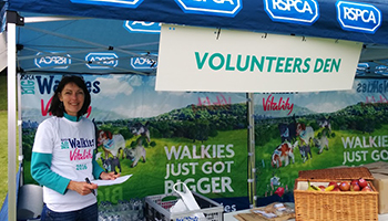 Debbie Gadd volunteers at our Big Walkies events