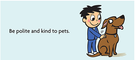 Dogs and children: Be polite and kind to pets