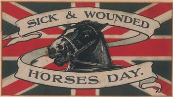 WW1 union silk flag for Sick and Wounded Horses © RSPCA