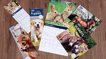 Selection of RSPCA Carousel calendars © RSPCA