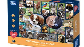 All creature great and small jigsaw © RSPCA