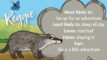 Reggie the badger