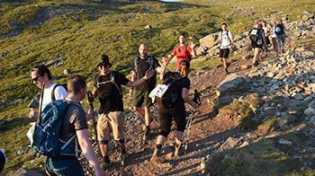 National three peaks hikers
