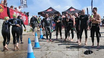River Arun swimmers at the finish line