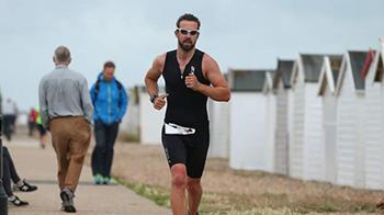 Worthing Triathlon runner