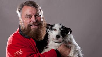 Brian Blessed and dog