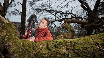 Chris Packham and dog Scratchy