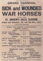 WW1 poster for event in Glagow 1917 © RSPCA