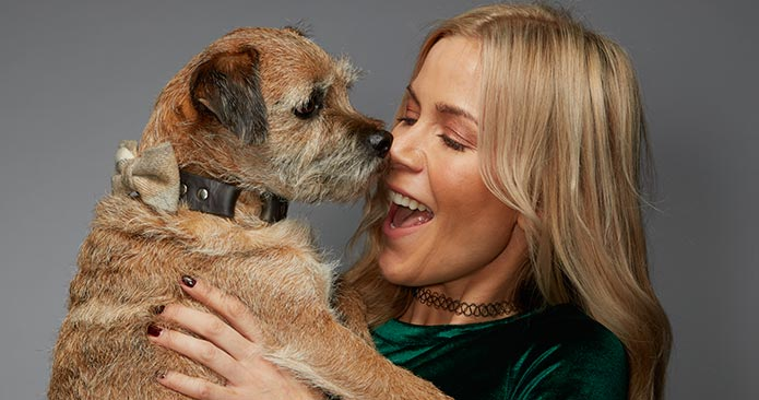 Kate Lawler with her dog Baxter