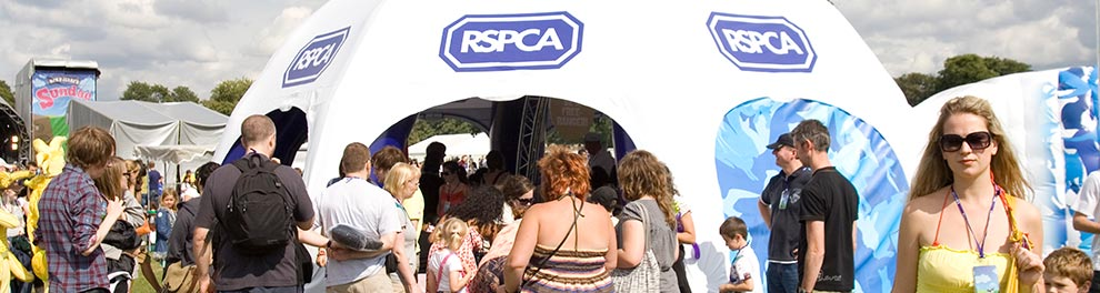RSPCA stand at an event © RSPCA photolibrary