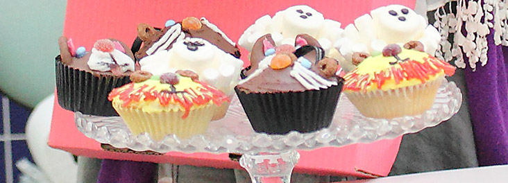 Collection of cupcakes at a fundraising event © RSPCA photolibrary