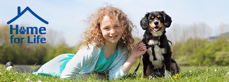 Home for life scheme - girl and dog portrait © RSPCA Photolibrary