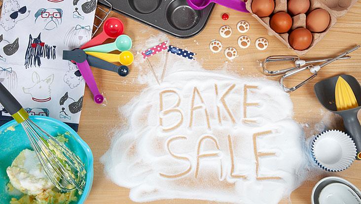 Bake sale written in sugar © RSPCA