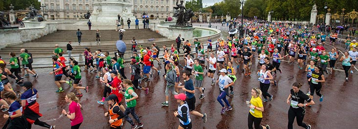 People taking part in the Royal Parks Half Marathon © RSPCA photolibrary