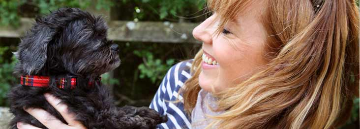 Florence, rescued from cruelty, with new owner Karen © RSPCA photolibrary