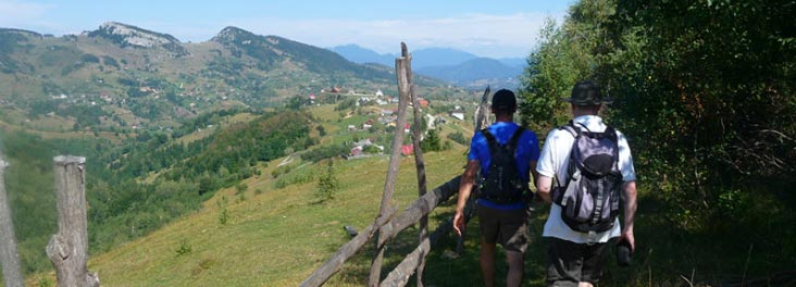 Two people on the Transylvania trek