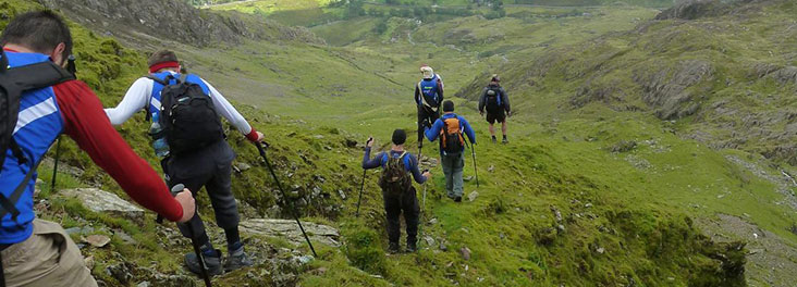 Hikers taking part in the Welsh 3000 Challenge